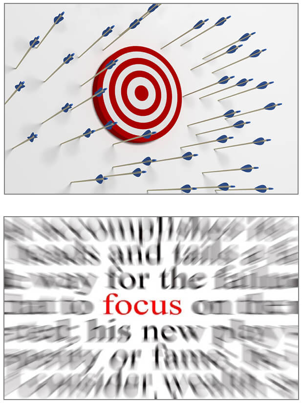target and focus